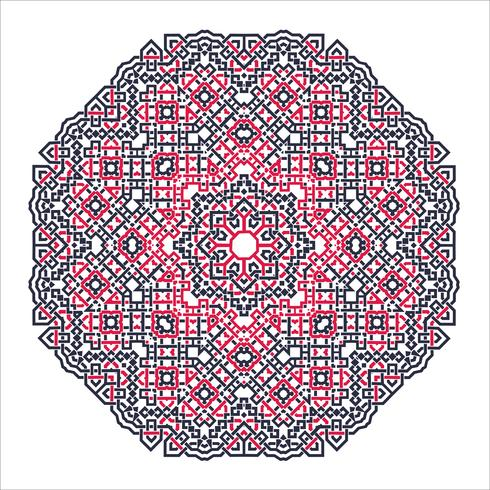 Mandala Ornament Hintergrund. Runde Vintage dekorative Elemente. vektor
