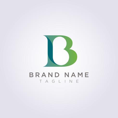 Schöner und luxuriöser Buchstabe B Logoentwurf für Ihr Geschäft oder Marke vektor