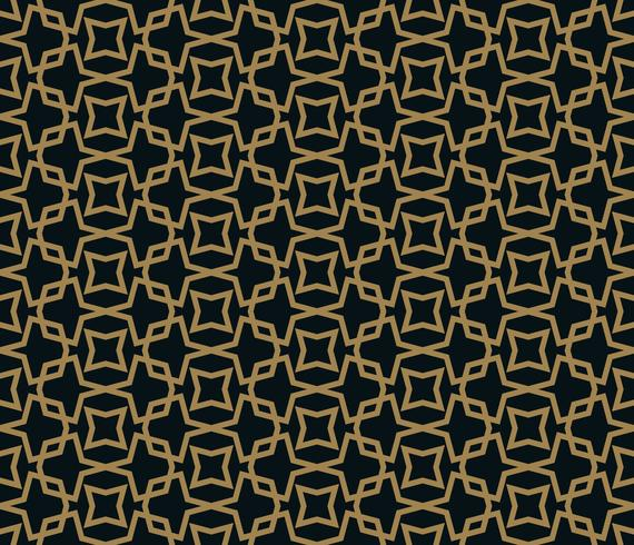 abstrakte nahtlose Ornament Muster Vektor-Illustration mit goldener Farbe vektor