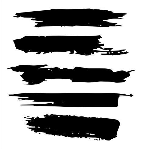 Penselsträckor handritad vektor illustration - Vektor