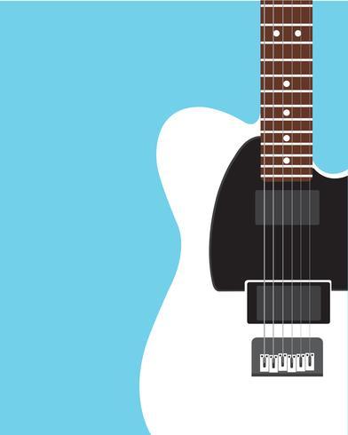 Elektrisk gitarr platt design vektor