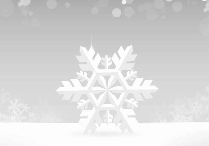 Silver Snowflake Vector Bakgrund