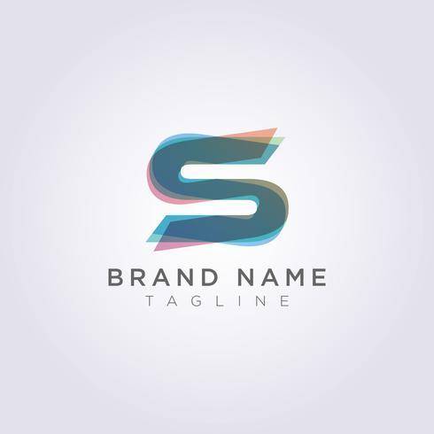 Vektor Design Symboler Modernt Dekorativt S Letter Logo Ikon