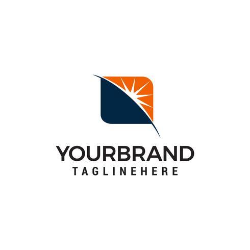 Ray Sonnenaufgang Logo-Design-Konzept-Vorlage vektor