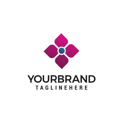 Logo-Konzeptentwurfs-Schablonenvektor des Blumenbadekurortes kosmetischer vektor