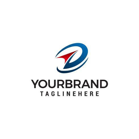 Pfeil Technologie Logo Design Konzept Vorlage Vektor