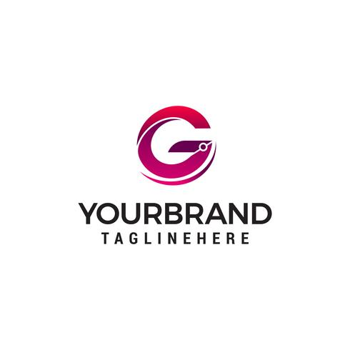 brev g logo design koncept mall vektor
