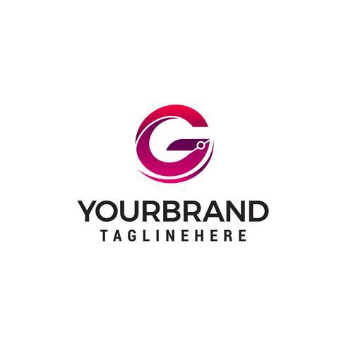 Buchstabe g Logo Design Konzept Vorlage Vektor