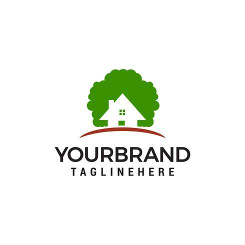 eco house logo design koncept mall vektor