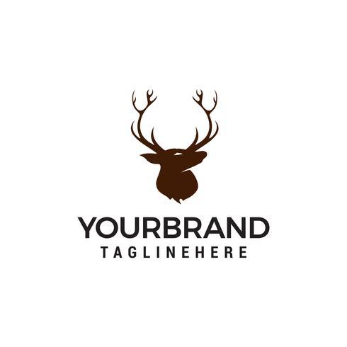 huvud hjort logo design koncept mall vektor