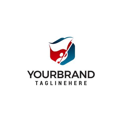 man med flagga logo design koncept mall vektor