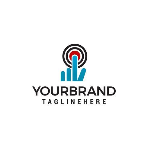 klicka på Power Logo Mall vektor ikon design