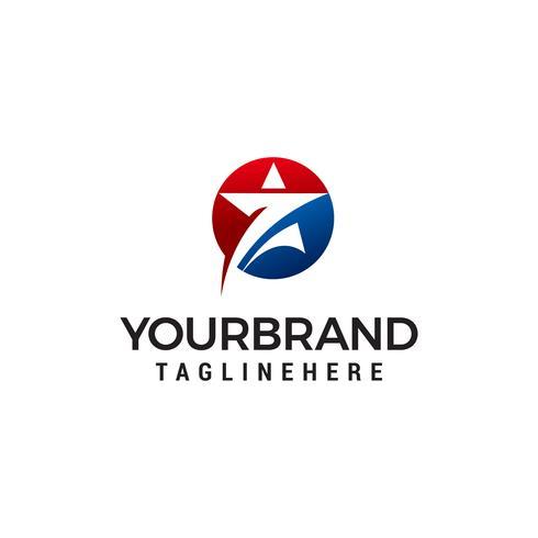 Sterne im Kreis Logo Design Konzept Vorlage Vektor