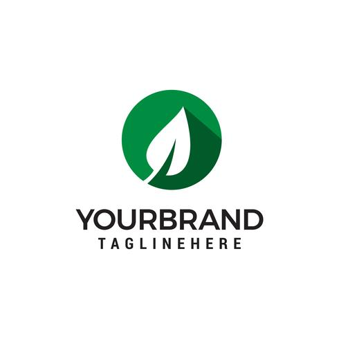 grön leaf logo design koncept mall vektor