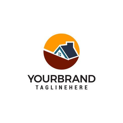 Immobilien-Vektor Logo Template-Design vektor