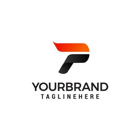 Buchstabe P Logo Entwurfsvorlage vektor
