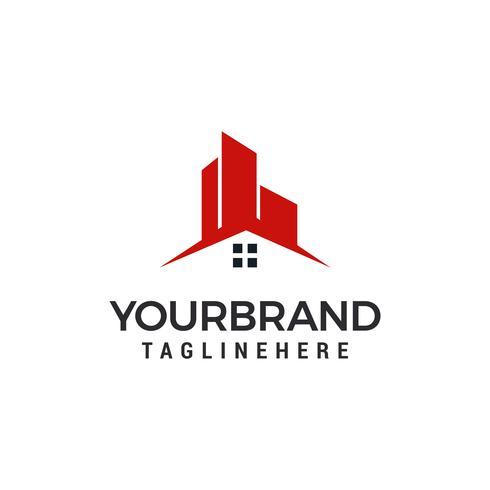 Gebäudehaus Logo Template-Vektorillustrationsdesign vektor