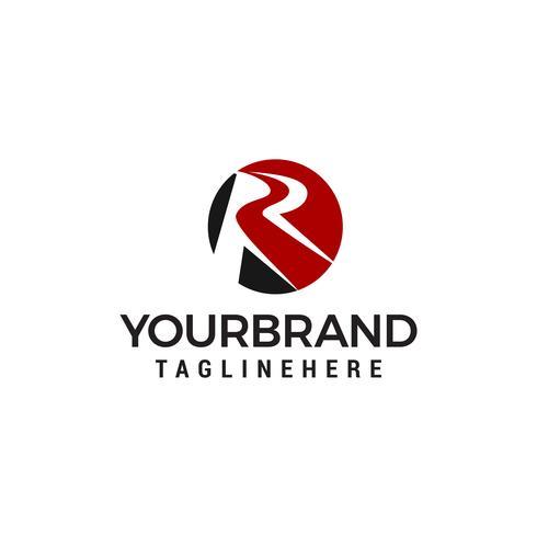 brev r logo design koncept mall vektor