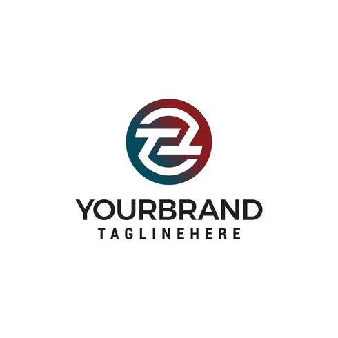 Buchstabe tt Kreis Logo Design Konzept Vorlage Vektor