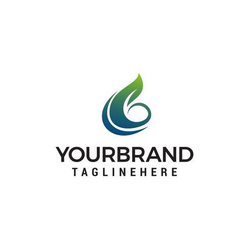 Blatt Buchstabe b Logo Design Konzept Vorlage Vektor