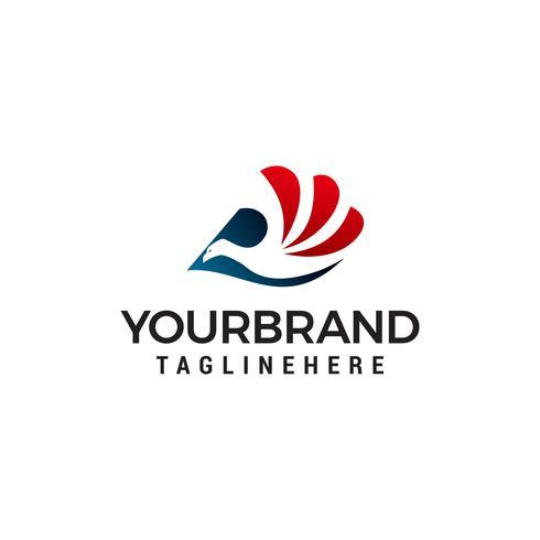 Vogel-Logo-Design-Konzept-Vorlage Vektor