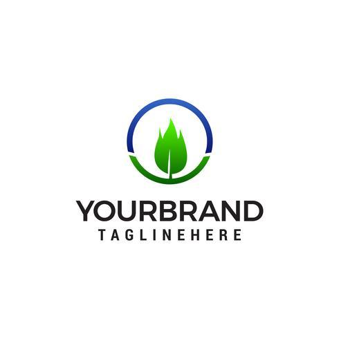 Logo-Design-Konzept-Schablonenvektor des Blattes natürlicher vektor
