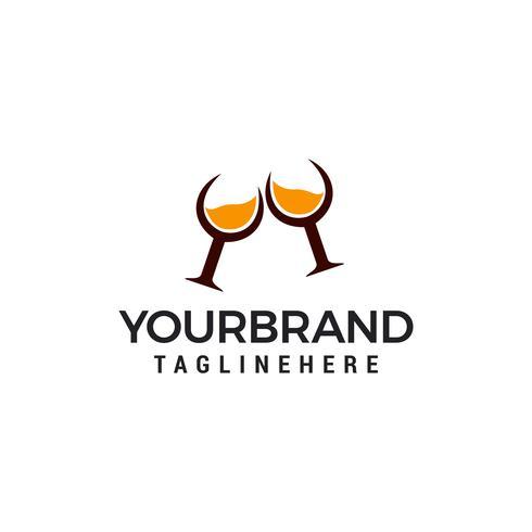 whisky glas logo design mall element vektor