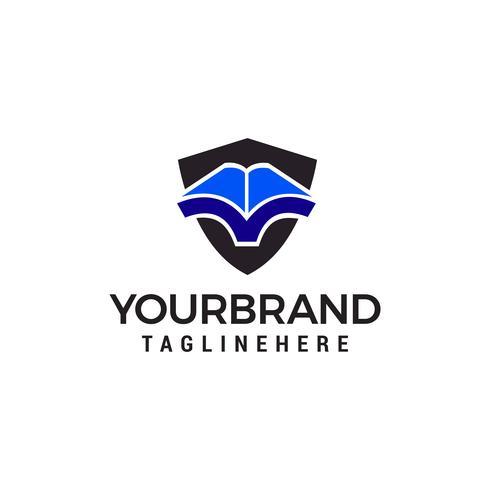 Buch Logo Design Konzept Vorlage Vektor