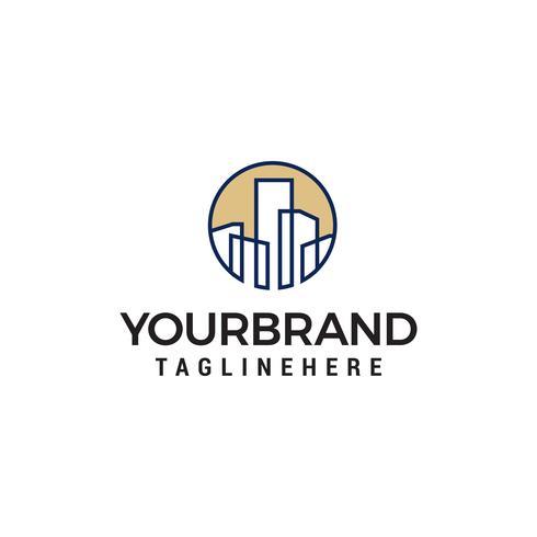 Gebäude Stadt Logo Design Konzept Vorlage Vektor