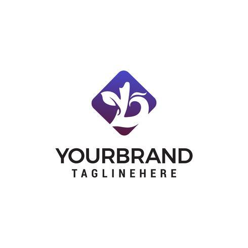 Buchstabe b Green Eco Logo Design Konzept Vorlage Vektor