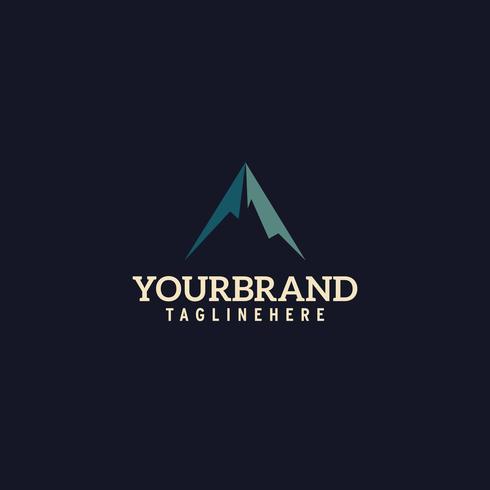 Enkel Mountain logo design vektor