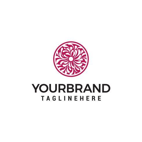 Vektor-Logo des floralen Elements. Design von Naturprodukten, Blumenladen, Kosmetik- und Ökologiekonzepten, ganzheitliche Medizin, Gesundheit, Rohkost, Spa-Center. vektor