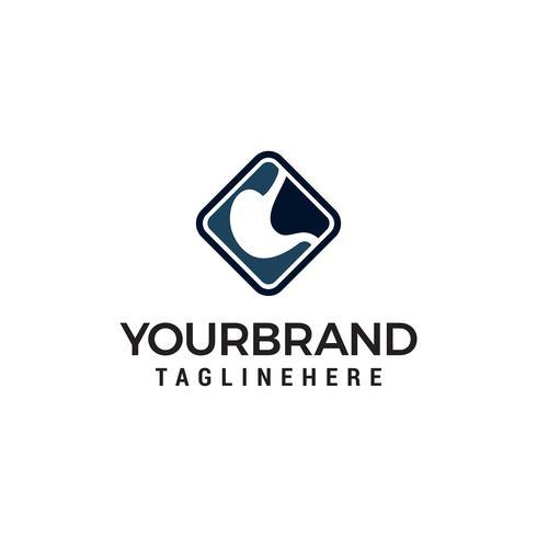 Magenpflege-Logo entwirft Konzeptvektor, Magenlogoschablone vektor