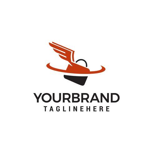 Tasche fliegen Geschäft Logo Template Vektor Icon Design