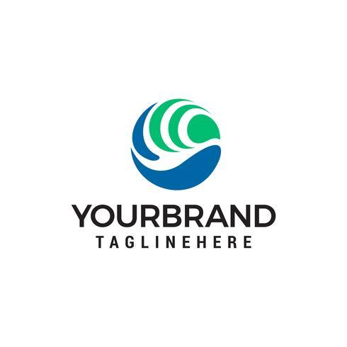 Vogel Kreis Logo Design Konzept Vorlage Vektor
