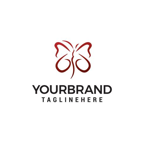 Butterfly logo design koncept mall vektor