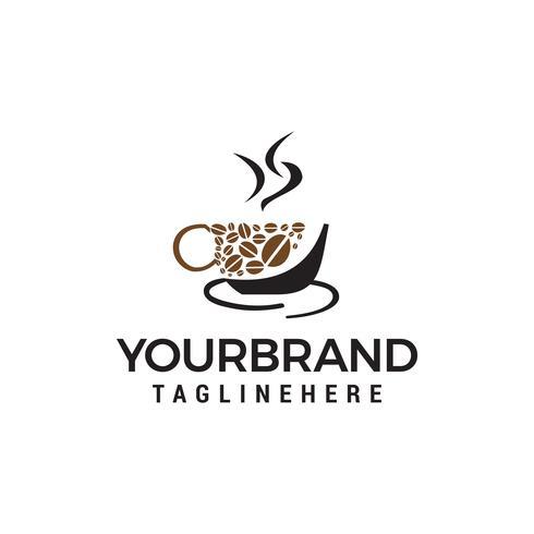 Kaffeetasse Logo Vorlage Vektor Icon Design