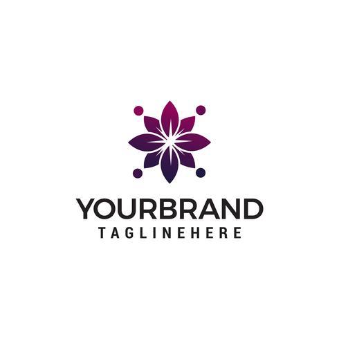 Logo-Konzept-Schablonenvektor des abstrakten Blumenbadekurortes kosmetischer vektor