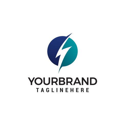 Elektrisk åska logo design koncept mall vektor