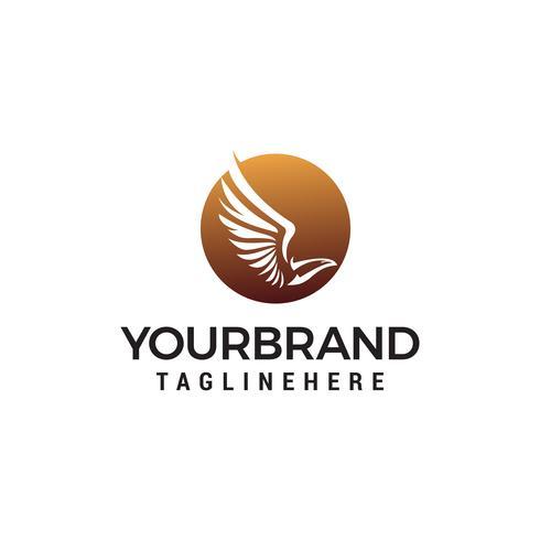 Adler fliegen Logo Design Konzept Vorlage Vektor