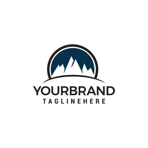 Mountain cirkel logo design koncept mall vektor