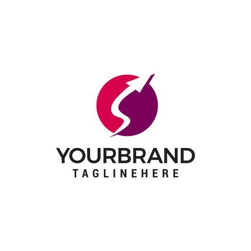 Pfeil Logo Design Konzept Vorlage Vektor