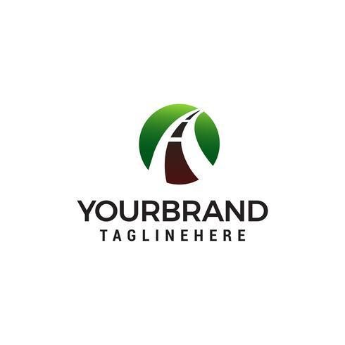 Road Logo Design-Konzept Vorlage Vektor