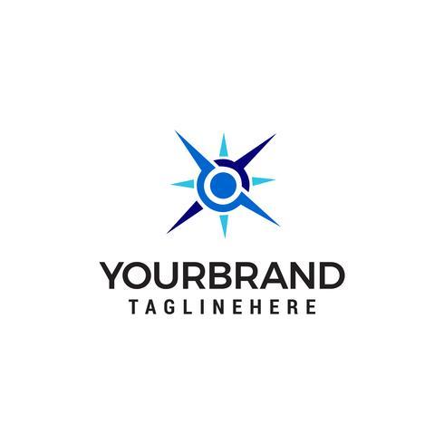 Kompass Logo Design Konzept Vorlage Vektor