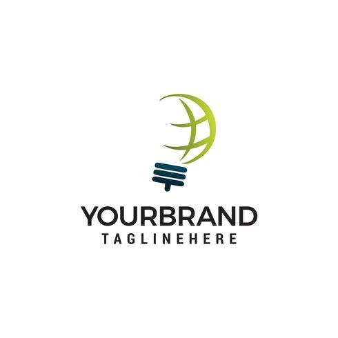 Kreativ glödlampa abstrakt vektor logo design och klot tecken. Corporate business industriell logotyp symbol.Vector illustration