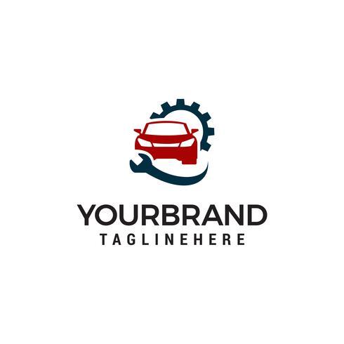 Reparatur-Logo, Auto und Schraubenschlüssel Logo Service-Design-Vorlage vektor
