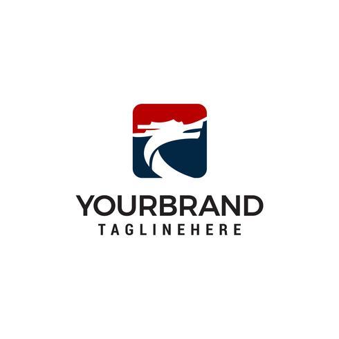 Drachen-Logo-Design-Konzept-Vorlage Vektor