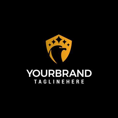 Kopf Vogel Luxus Logo Design Konzept Vorlage Vektor