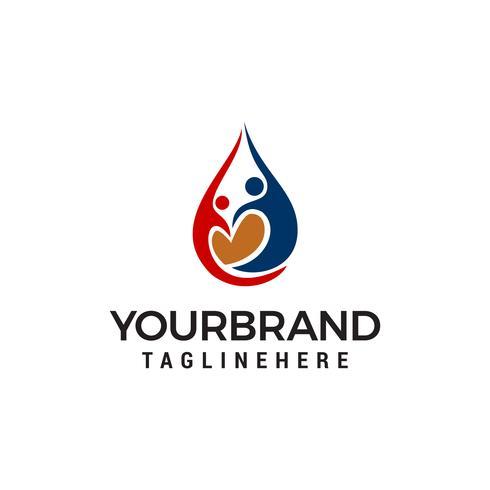 Kärlek Community Care Logo Mall design vektor