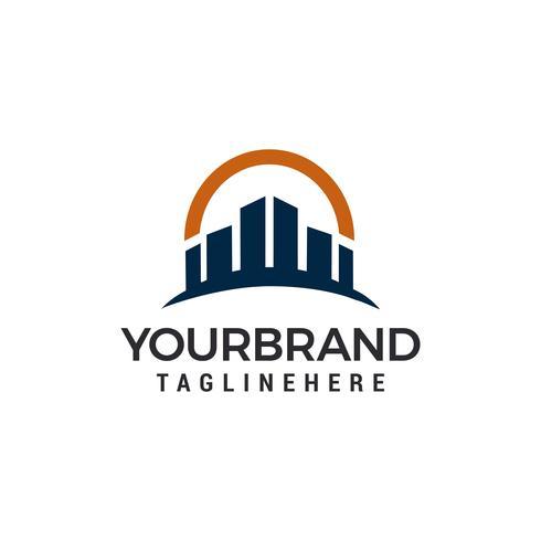 Gebäudestadt Logo Template-Vektorillustrationsdesign vektor
